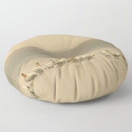 White Pelican Fleet I - Smoky Western Sky Floor Pillow