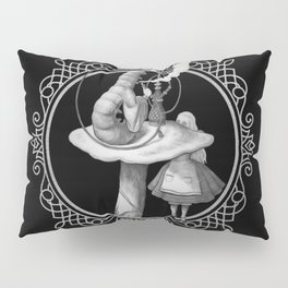 Alice and the Smoking Caterpillar - Alice in Wonderland Pillow Sham