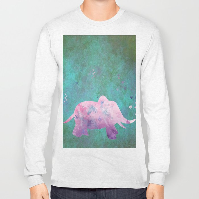 Love is in the air I- Animal Elephant on #Society6 Long Sleeve T-shirt