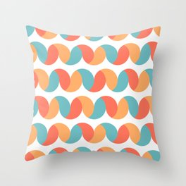 Pastel colored abstract geometric waves Throw Pillow