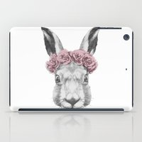 hare iPad Cases featuring Hare  by Victoria Novak