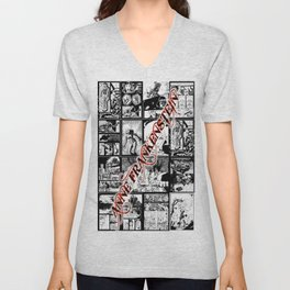 WHITE - A nne Frankenstein Book I - Resurrection Unisex V-Neck