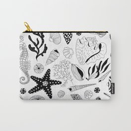 Tropical underwater creatures and seaweeds Carry-All Pouch