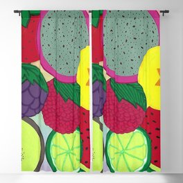 Fruity Circular Slices Blackout Curtain