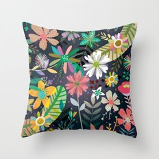 Funky garden Throw Pillow