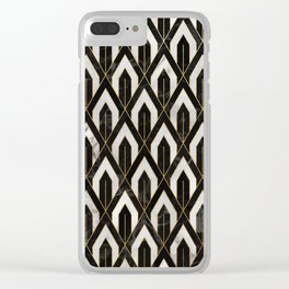 Art Deco Marble Pattern Clear iPhone Case