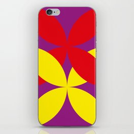 Two four-leaf clovers hugging in a beautiful deep purple space. How lucky! iPhone Skin
