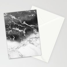 Modern black and white marble ombre watercolor color block Stationery Cards