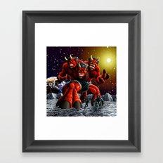 The Moondevil Means Business Framed Art Print