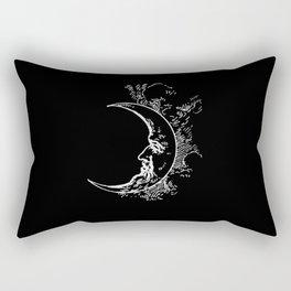 Man On Moon Crescent Moon Rectangular Pillow