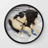 sassy Wall Clocks featuring Sassy pony by North 10 Creations