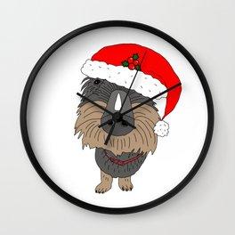 Hugo the Santa dog Wall Clock