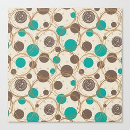 Brown and turquoise Canvas Print