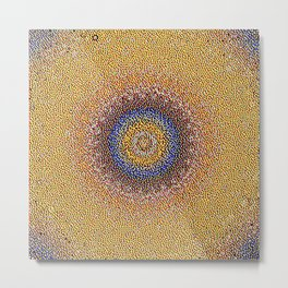 New Color Pyramidal Mandala 50 Metal Print