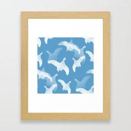 White Birds Against The Blue Sky #decor #society6 #homedecor Framed Art Print