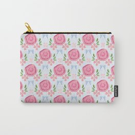 Rose pattern - Pink Carry-All Pouch