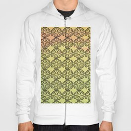 Doodle flowers on pastel background Hoody