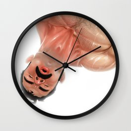 Downside Up Wall Clock