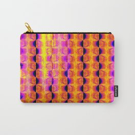 Cool Colorful Half-Moon Stripe Pattern Carry-All Pouch