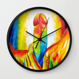 The Colorful Dick Wall Clock