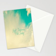 Light Tommorrow With Today Stationery Cards