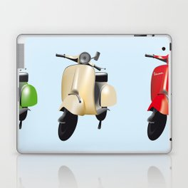 Three Vespa scooters in the colors of the Italian flag Laptop & iPad Skin