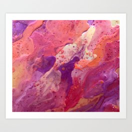 Deep Pink Art Print