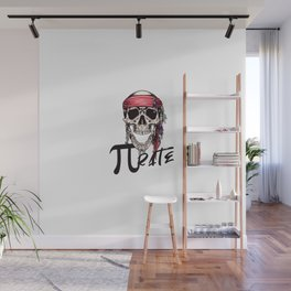 Pirate Funny Math Pun Pi Day Gift Math Science Lover Pi day Wall Mural