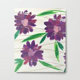 Retro Floral Metal Print