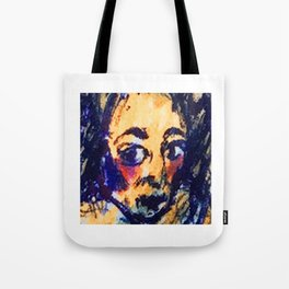 Red Cheeks Woman Tote Bag