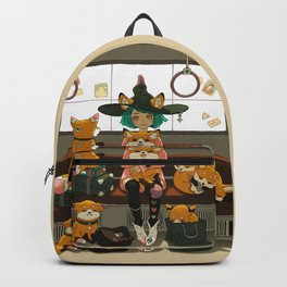 Witch and the magic foxes   Backpack