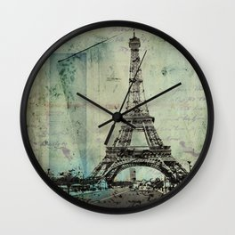 With Love From Paris Wall Clock