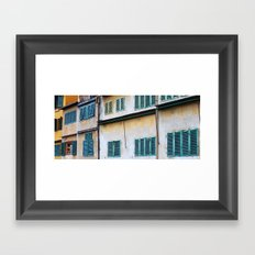 Florence windows Framed Art Print