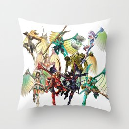 Legend of Dragoon Dragoons Throw Pillow