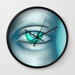hiding emotion Wall Clock