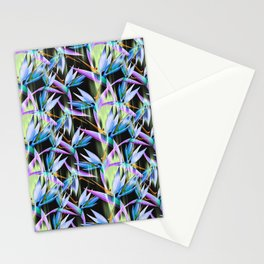 Boldly Colored Tropical Bird of Paradise Flowers Stationery Cards