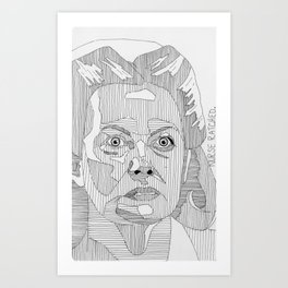 Nurse Ratched. Art Print