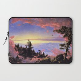 New England - Above the Clouds at Sunrise by Frederic Irwin Church Laptop Sleeve