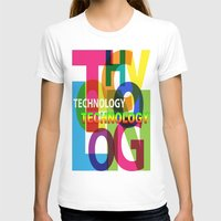 technology T-shirts featuring Creative Title : TECHNOLOGY by Don Kuing