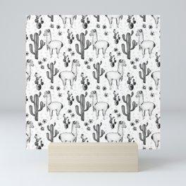 Llama Llamarama + Cactus 2 Mini Art Print