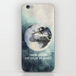 Take care of our planet #2 iPhone Skin
