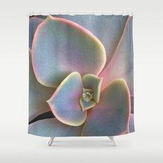 Succulent Dew Drop Shower Curtain