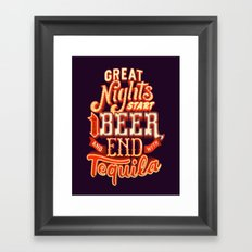 Great nights Framed Art Print