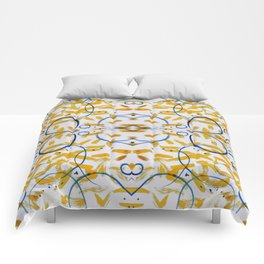 abstract paint pattern blue circle Comforters