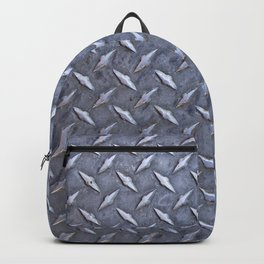 Steel Diamond Pattern Metal Grating Backpack