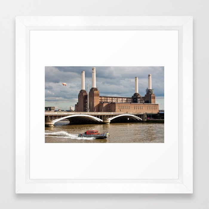 Battersea Power Station with Pink Floyd Pig Framed Art Print by ...