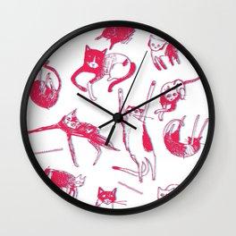 Falling Cats Wall Clock