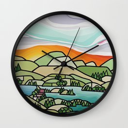 Lakes and Orchards Wall Clock
