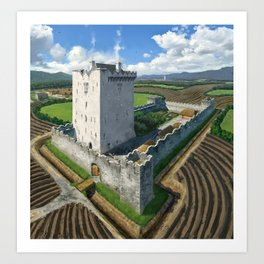 Medieval Tower House Art Print