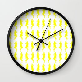 Yellow Bold Mod GoGo Girls Wall Clock